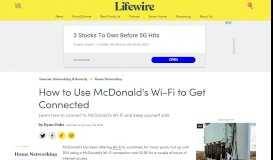 How to Use McDonald's Wi-Fi to Get Connected - Lifewire