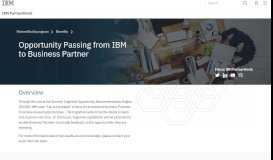 IBM PartnerWorld - Create, receive and progress software leads from ...