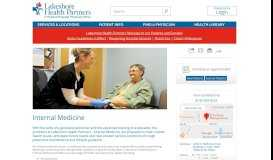 Internal Medicine | Lakeshore Health Partners
