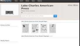 Lake Charles American-Press on Newspapers.com