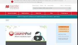 LaunchPad   Macmillan International Higher Education