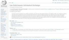 Law Enforcement Information Exchange - Wikipedia
