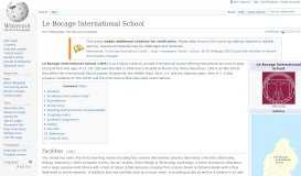 Le Bocage International School - Wikipedia