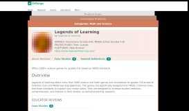 Legends of Learning   Product Reviews   EdSurge