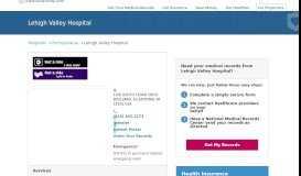Lehigh Valley Hospital   MedicalRecords.com