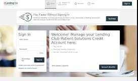 Lending Club Patient Solutions Credit - Manage your account