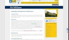 Life Insurance Corporation of India - User Information - LIC
