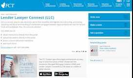LLC - Lender Lawyer Connect - Canadian Mortgage ... - FCT