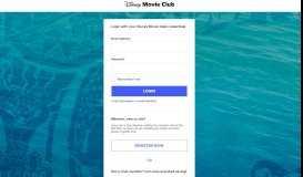 login - Disney Movie Club