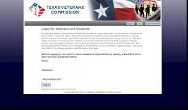 Login for Veterans and Students - TVC Hazlewood