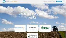 Login - Vendor Portal