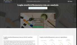 Login.woolworthsmoney.com.au - FreeTemplateSpot