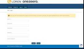Lorien and onezeero. Online > login > get login