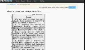 Lottin & Lumen visit George Bacon 1914 - Newspapers.com