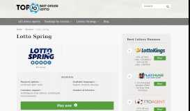 Lotto Spring - Top 10 Best Online Lotto