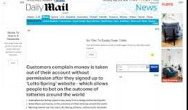 Lotto Spring website promoted on Facebook allows ...