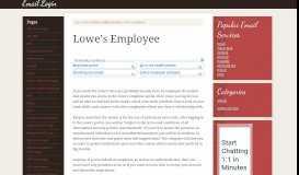 Lowe's Employee Email Login – My Lowe's Life Employee ...
