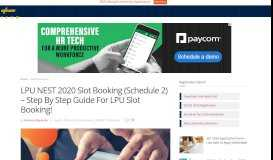 LPU NEST 2020 Slot Booking (Phase 2) - Step By Step Guide ...