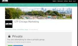 LTF Chicago Marketing | Life Time Fitness - All Events