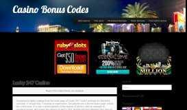Lucky 247 Casino no deposit bonus codes