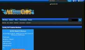 Lucky 247 review - Allfreechips Casino Bonus Forum