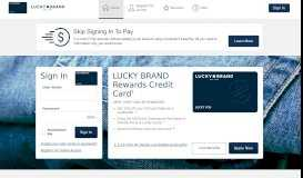Lucky Brand Rewards Credit Card - Manage your account