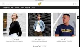 Lyle & Scott | Winter Sale Up To 50% Off Selected Lines ...