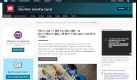 Macmillan Learning Digital   The Macmillan Community