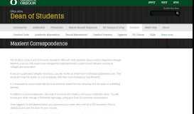 Maxient Correspondence | Dean of Students