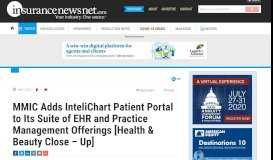 MMIC Adds InteliChart Patient Portal to Its Suite of EHR and Practice ...