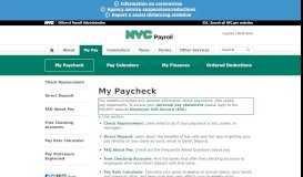 My Paycheck - OPA - NYC.gov