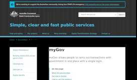 myGov   Digital Transformation Agency