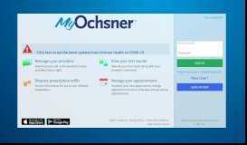 MyOchsner - Login Page