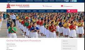 Online Fee Payment Procedure - Army Public School, Hisar