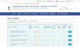 Online Services - Controller of Legal Metrology – Weights ...