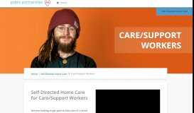 Our Services for Home Care Workers | Public Partnerships