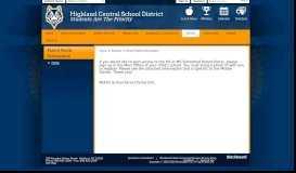 Parent Portal Information / Home - Highland Central School District
