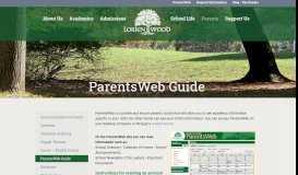 ParentsWeb Guide - Lorien Wood School