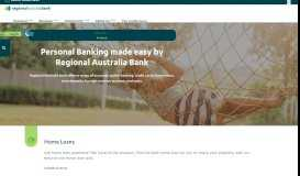 Personal Banking - Regional Australia Bank
