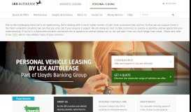 Personal Car Leasing and Contract Hire | Lex Autolease