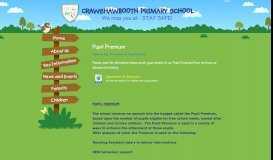 Pupil Premium | Crawshawbooth Primary School