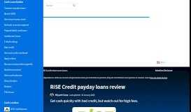 RISE Credit payday loans review January 2020 | finder.com