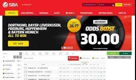 SBA Uganda© | Online Sports Betting | Free Weekly Cash Drops