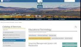 Service Catalog | Office of Information Technology