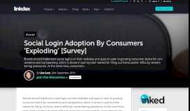 Social Login Adoption By Consumers 'Exploding ... - Linkdex