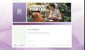 SSO non MyLR user - My LR-World