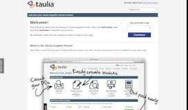 Taulia: Enter Invitation Code - the Taulia portal