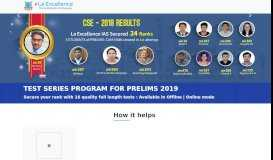 Test Series for Prelims | Online | Offline | La Excellence IAS ...