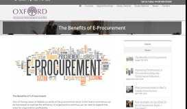 The Benefits of E-Procurement - Oxford College of Procurement and ...