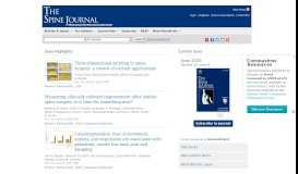 The Spine Journal: Home Page
